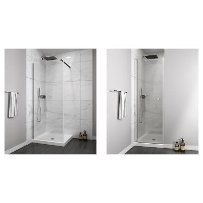 Mampara fija 300x1900 6mm easy clean + Mampara puerta abatible 700x1900 6mm easy clean