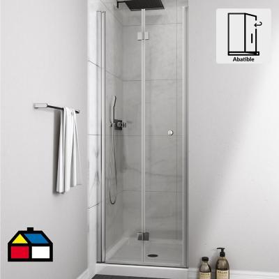 Mampara puerta plegable 800x1900 6mm easy clean