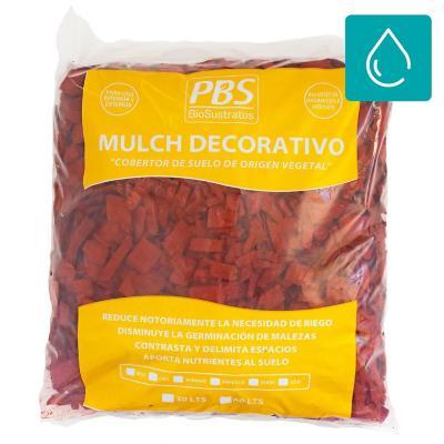 Mulch decorativo seleccionado 30 litros rojo