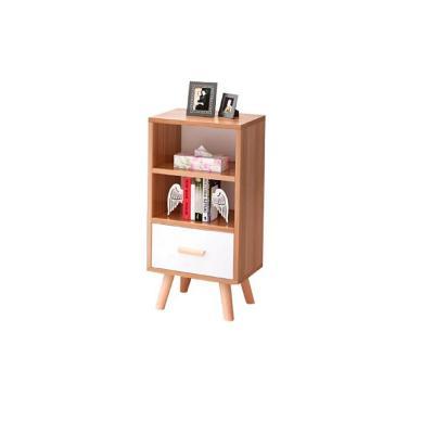 Mueble lateral nórdico 82x40x30 cm blanco