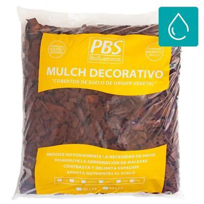 Mulch decorativo seleccionado 30 litros café