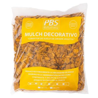 Mulch decorativo seleccionado 30 litros amarillo