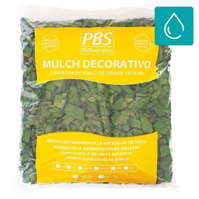 Mulch decorativo seleccionado 30 litros verde