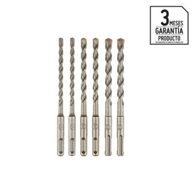 Set 6 brocas concreto sds plus 6, 8, 10mm x2