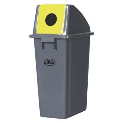 Contenedor 60 litros desperdicios tapa amarillo
