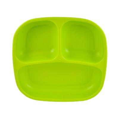 Plato 3 compartimentos  verde limon