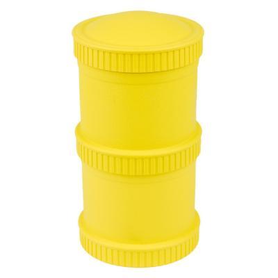 Envase alimento apilable 2 bases + 1 tapa amarillo