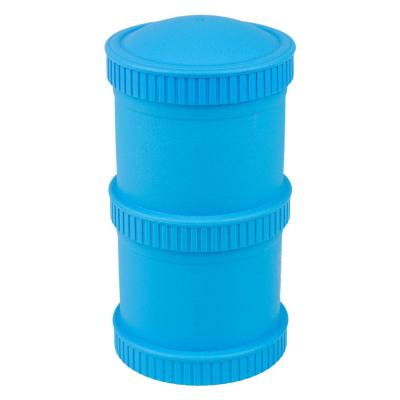 Envase alimento apilable 2 bases + 1 tapa azul
