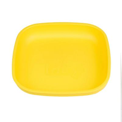 Plato plano infantil material reciclado amarillo