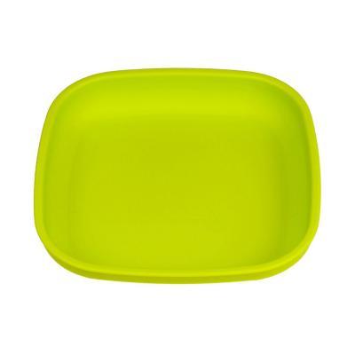 Plato plano infantil material reciclado verde limon