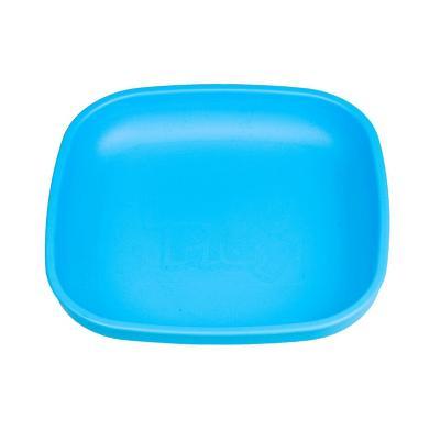 Plato plano infantil material reciclado azul