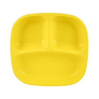 Plato 3 compartimentos amarillo