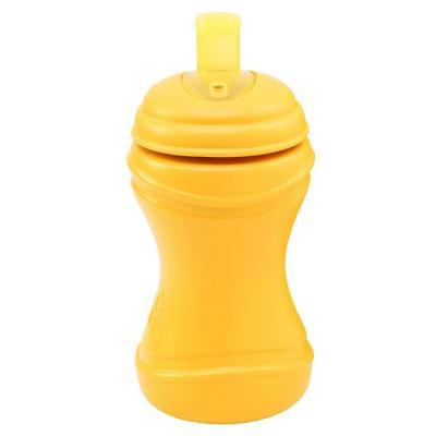 Vaso bombilla ancha anti derrame amarillo