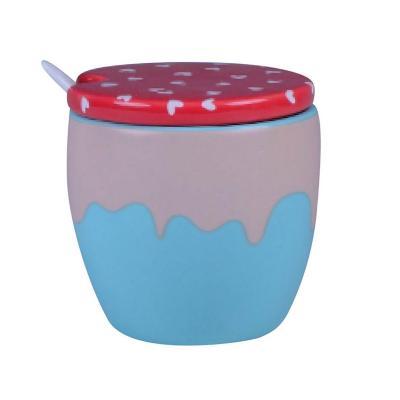 Azucarero 9,5x9,4x9,4 cm cerámica