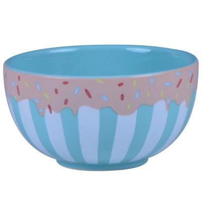 Bowl 12,5x6,7 cm celeste cerámica