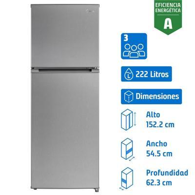 Refrigerador 222 litros no frost top freezer