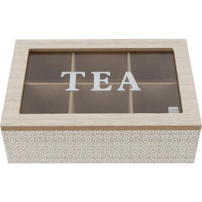 Caja madera 6 div 24x16x6.5 cm