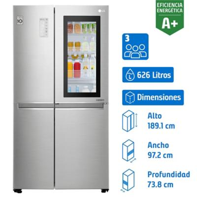 Refrigerador No Frost Side by Side Instaview LG 626 litros