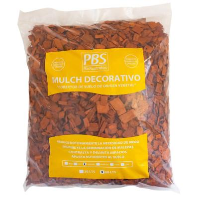 Mulch decorativo seleccionado 60 litros naranjo