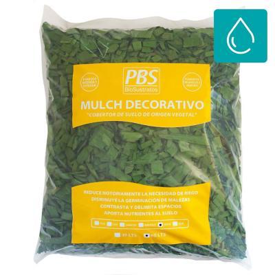 Mulch decorativo seleccionado 60 litros verde