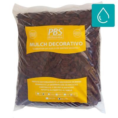 Mulch decorativo seleccionado 60 litros café