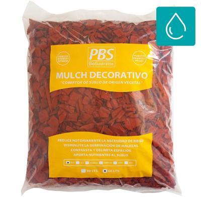 Mulch decorativo seleccionado 60 litros rojo