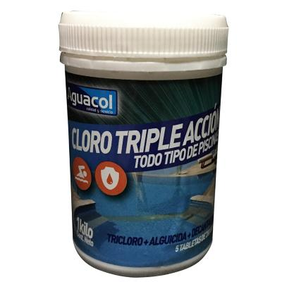 Cloro triple acción 5 pastillas de 200 gr