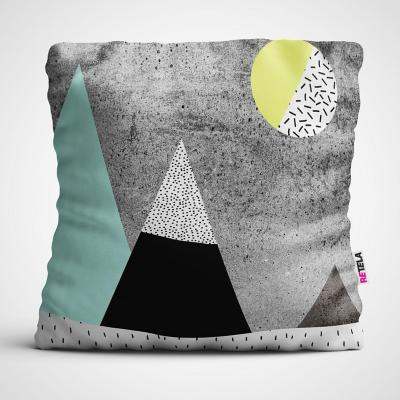 Cojin 45x45 cm ilustración montaña lunar