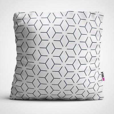 Cojin 45x45 cm ilustración cubo ilusión
