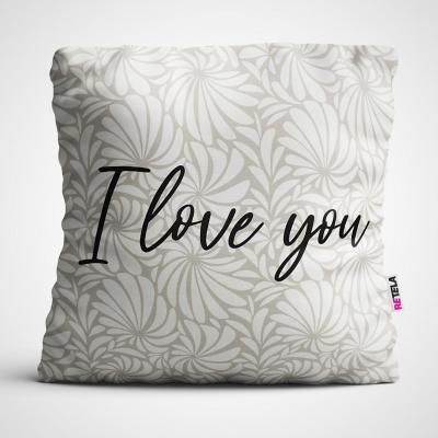 Cojin 45x45 cm ilustración i love you