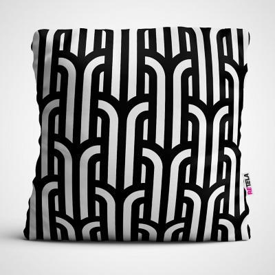 Cojin 45x45 cm ilustración patrones cuatro