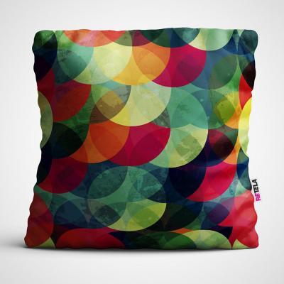 Cojin 45x45 cm ilustración arcos de color