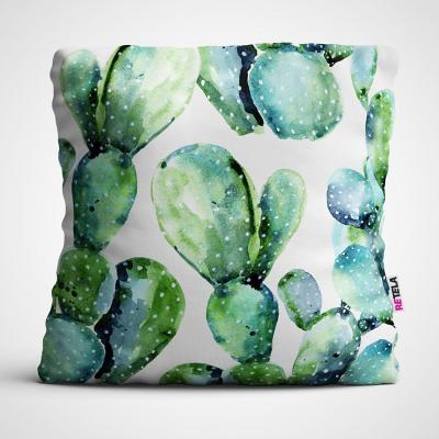 Cojin 45x45 cm ilustración cactus desarrollo