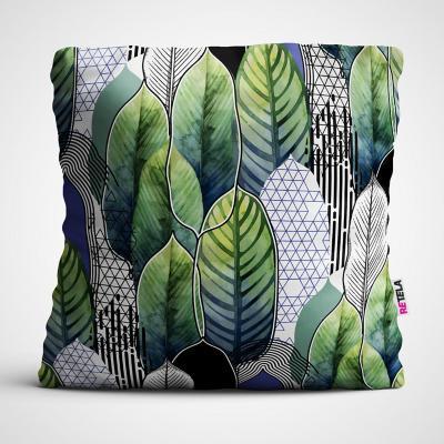 Cojin 45x45 cm ilustración hojas