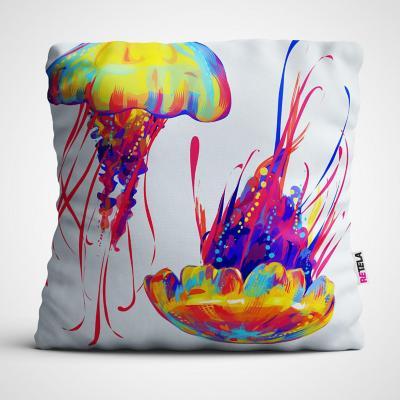 Cojin 45x45 cm ilustración mar colorido