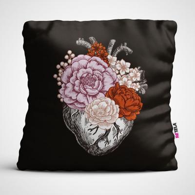 Cojin 45x45 cm ilustración flor de amor