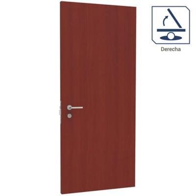 Puerta de seguridad 4 direcciones derecha 95x200 cm lisa Sapelle