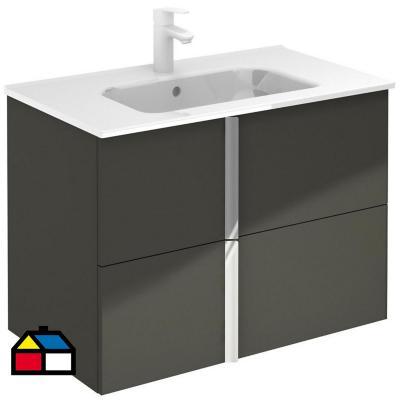 Mueble de baño 80 onix + 2 cajones antra