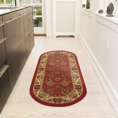 Alfombra pasillo ottohome 50x150 cm rojo