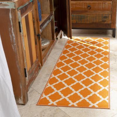 Alfombra pasillo glamour 50x150 cm naranjo
