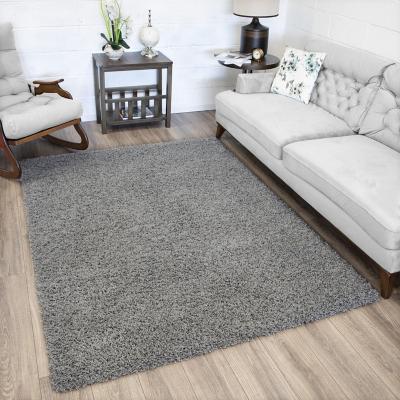 Alfombra shaggy 100x140 cm gris