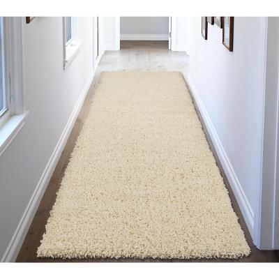 Alfombra pasillo shaggy 50x150 cm beige