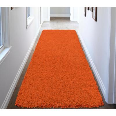 Alfombra pasillo shaggy 50x150 cm naranjo