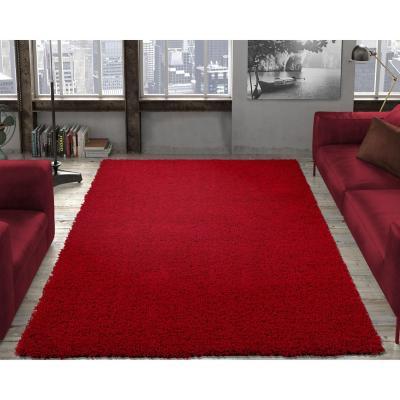 Alfombra shaggy 150x210 cm rojo