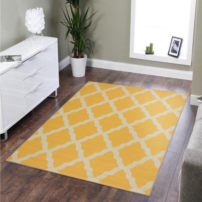Alfombra glamour 100x150 cm amarillo