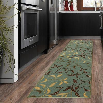 Alfombra pasillo ottohome 60x210 cm verde