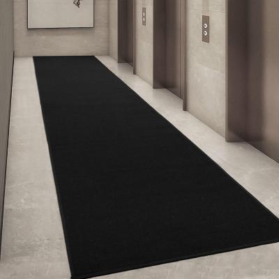 Alfombra pasillo ottohome 60x370 cm negro