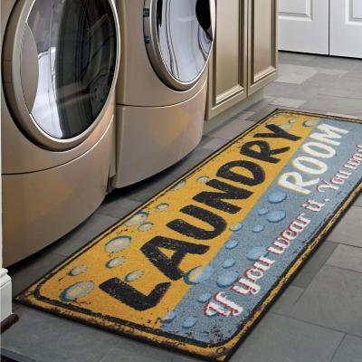 Alfombra Laundry 150x50 cm Naranjo/Gris