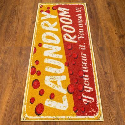 Alfombra pasillo laundry 50x150 cm naranjo/rojo