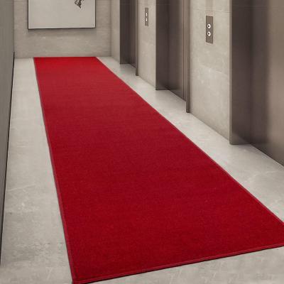 Alfombra pasillo ottohome 80x300 cm rojo